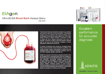 MicroELISA Blood Bank Assays Menu